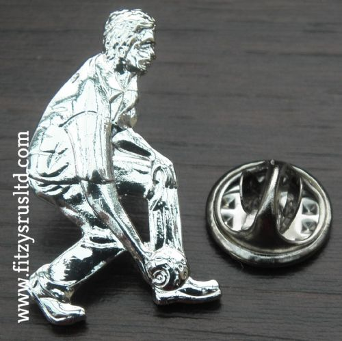 Bowler Lapel Hat Cap Tie Metal Pin Badge Bowls Lawn Bowling Gift Ten-pin Gift